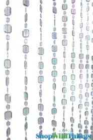 Emeralds Beaded Curtains - Crystal - 3 ft x 6 ft