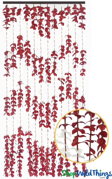 """FabuLush Fabric Flowers�"" Curtain - Burgundy and Ivory - 3' x 6'"