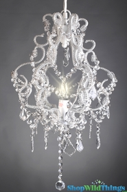 "Fancy Crystal Beaded ""Adoria"" Chandelier 23"""