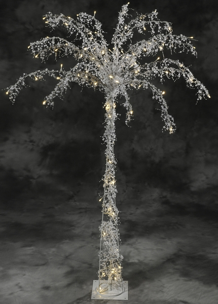 COMING SOON! Fantasyland Pearls Beaded & 100 LED Lights Beaded Tree 5' Tall