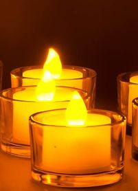 DazzLED Flameless Flickering LED Tea Light Candles - The Best Ever! (Min 6 Pcs)