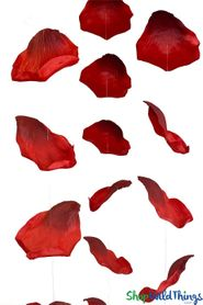 Silk Rose Petals - Hanging Garlands & Bulk Scatter