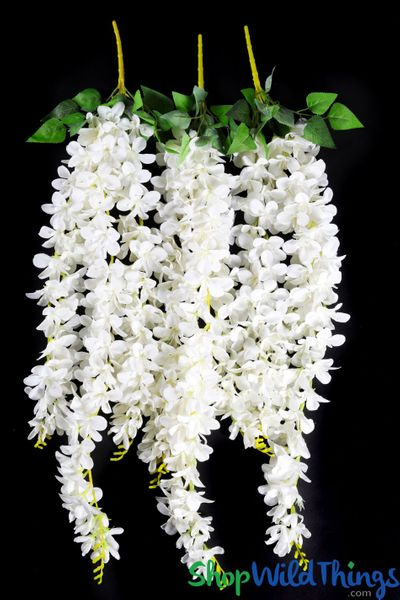 "COMING SOON! Plumeria Silk Floral Spray - Creamy White - 38"" - Perfect for Draping"
