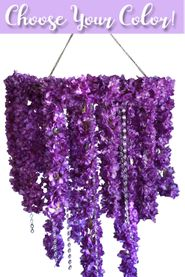 Floral Chandelier & Crystals 2' x 4' - 8 Flower & Color Choices - Kit