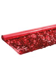 Floral Fabric Sheeting IFR - Metallic Red -  3 ft x 30 ft Roll