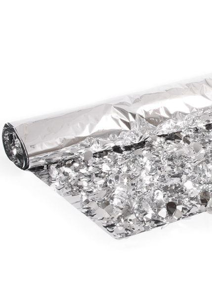 Floral Fabric Sheeting IFR - Metallic Silver - 3 ft x 30 ft Roll