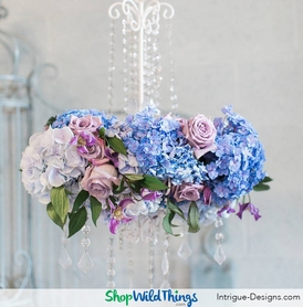 Floral Candle Chandeliers Made Easy(ish) - Wedding Decorating Ideas (and a shameless plug for our friend)