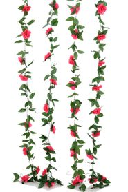 Flower Garland - Silk Rose - 8' - Fuchsia Pink - BUY MORE, SAVE MORE!