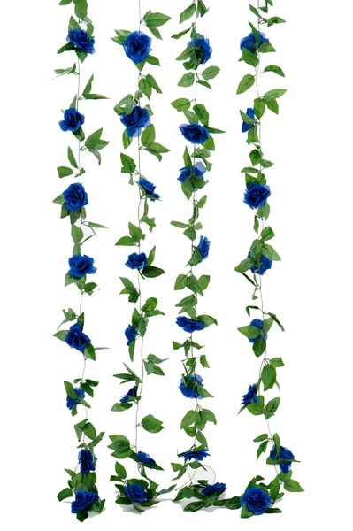 Flower Garland - Silk Rose - 8' - Royal Blue - BUY MORE, SAVE MORE!