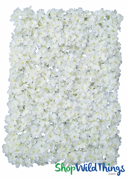 "Flower Wall 17"" x 25"" Silk Cherry Blossoms - Cream & White"