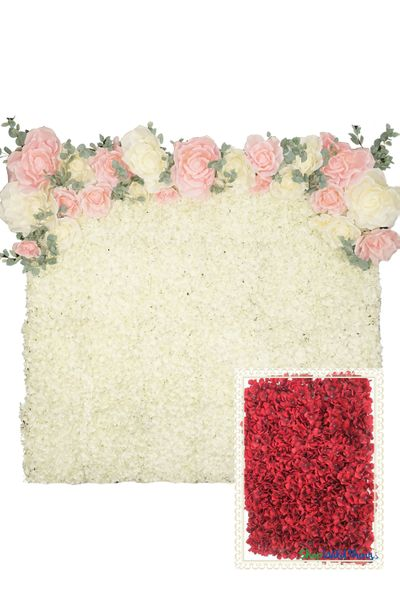 Flower Wall Kit - 8' x 8' Portable Backdrop Kit - Red Plumeria