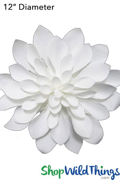 "Paper Flower Dahlia 12"" Off-White - Make Flower Walls!"
