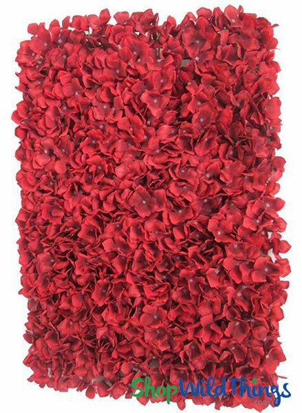 "Silk Plumeria Frangipani Flower Walls -  Romantic Red with White Seeds - 18"" x 25"""