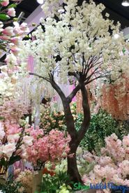 Flowering & Large Artificial Trees