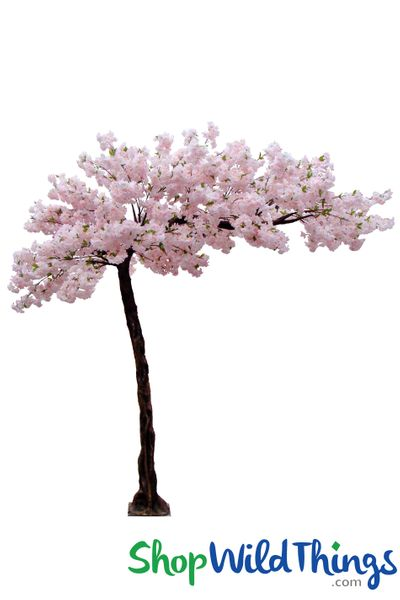 """COMING SOON! Flowering Cherry Blossom - Multi Pink - 10.5 Feet Tall x 8 Feet Wide """"Sideswept"""" - Create Arch Using 2"""