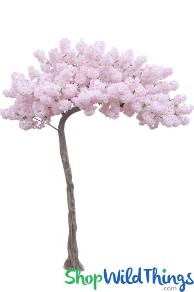 """Flowering Cherry Blossom - Pink & White - 10.5 Feet Tall x 8 Feet Wide """"Sideswept"""" - Create Arch Using 2"""