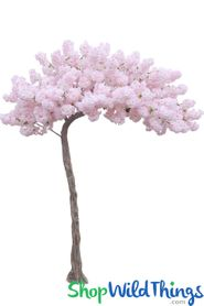 "Flowering Cherry Blossom - Pink & White - 10.5 Feet Tall x 8 Feet Wide ""Sideswept"" - Create Arch Using 2"