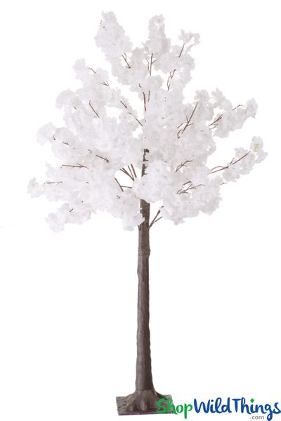 COMING SOON! Flowering Cherry Blossom Tree Bendable Branches - 5' Tall - Pure White