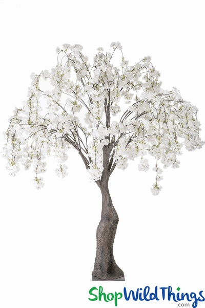 COMING SOON! Flowering Artifcial Cherry Blossom Tree Extra-Full - 6' Tall - White