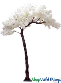 "Flowering Dogwood Tree - Ivory - 11 Feet Tall x 8 Feet Wide ""Sideswept"" -  Create Arch Using 2!"