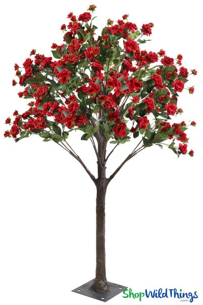 Flowering Rose Tree � 5' Tall � Red