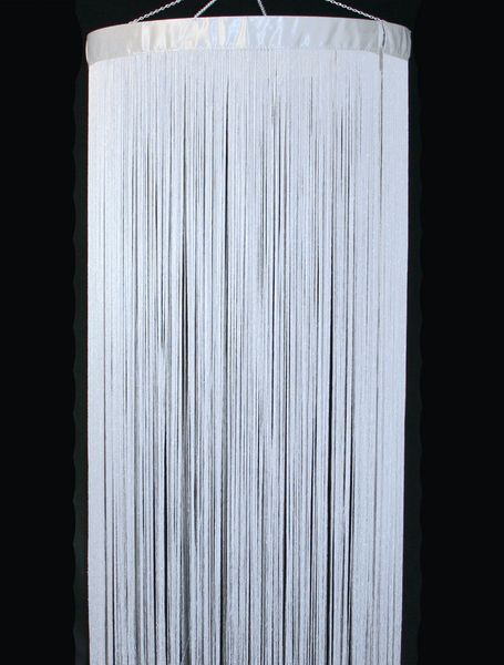 COMING SOON! Fringe String Columns - White - 4' Diameter by 7.3' Long