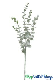 Frosted Eucalyptus Spray - 2.5 Feet Bendable Greenery Stem