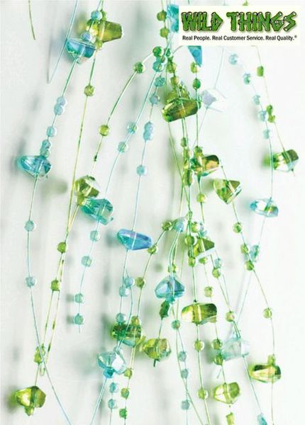 Garland, 5 Feet Long, Set of 2, Blue and Green