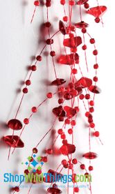 Garland, 5 Feet Long, Set of 2, Red 2-Toned