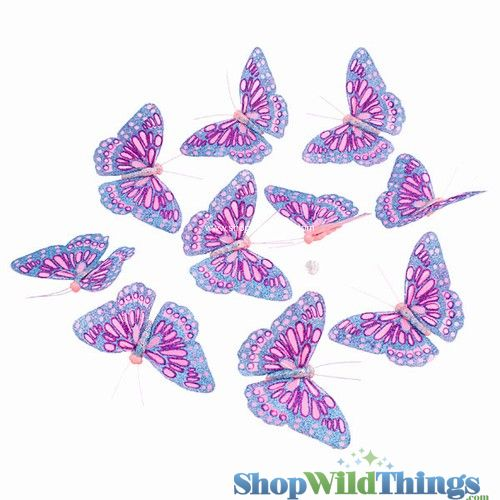 Garland -  Butterflies -  Pink Glitter - 5.5 Feet Long