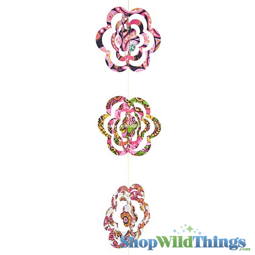 SALE ! Garland -  Paper 3D Flowers -  Retro