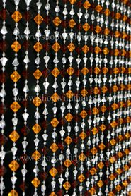 Gemstone Beaded Curtain - Brown Amber Non-Iridescent - 3 ft x 6 ft