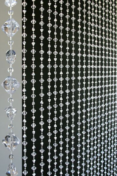 "COMING SOON! Gemstone ""Chunky"" Beaded Curtain - Crystal Non-Iridescent - 3 ft x 6 ft"