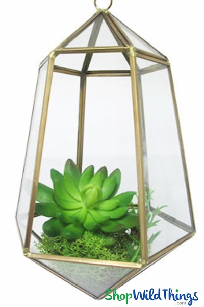 Hanging Geo Terrariums Make Elegant Candle Holders Decorative