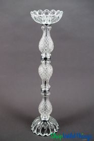 "Candle & Floral Holder/Glass Centerpiece Riser ""Trevino"" - 23 1/2"""