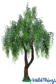 Green Artificial Lifesize Weeping Willow Tree - 10 Feet Tall