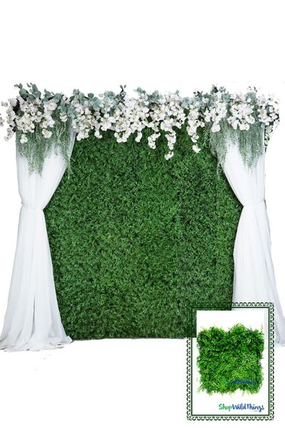 Greenery Wall Kit - 8' X 8' Portable Backdrop Kit - FIRE RATED Ferns