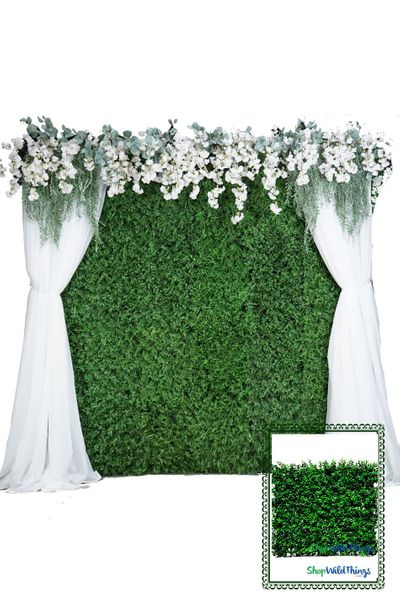 Greenery Wall Kit - 8' x 8' Portable Backdrop Kit - FIRE RATED Boxwood