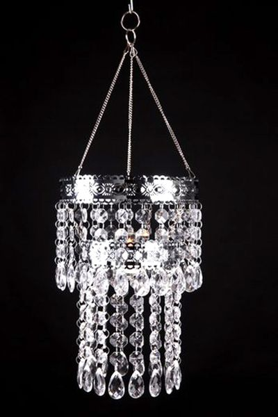 "Hanging Beaded Candle Holder ""Lexie"" - 8"""