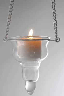 Candle Holder Hanging Quot Donatella Quot Clear Glass