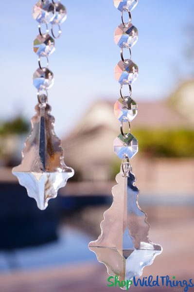 "Acrylic Pendant 2.75"" Long ""Blair"" Set of 24 for Wedding Trees & Chandeliers!"