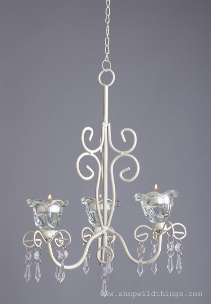 "COMING SOON! Chandelier ""Lulu"" French Chic - 23 3/4"" x 9 1/4"" - 3 Candle Cups"