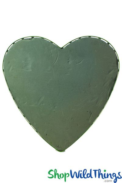 """Heart Shaped Floral Foam 18.5""""W x 18""""H W/Tray & Suction Cups"""