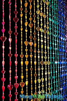Hearts Beaded Curtains - 2 Choices
