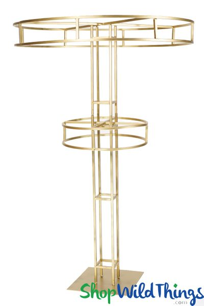 "COMING SOON! ""High Tower"" Gold Tiered Floral Riser 5'"
