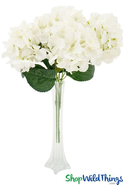 "Deluxe Silk Hydrangea Bouquet - Cream Spray - 21"" Tall, 6 Heads"