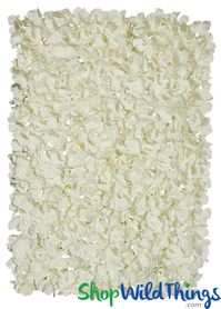 "Flower Wall 17"" x 25"" Silk Hydrangeas - Ivory"