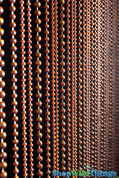 COMING SOON! Jazzy Pearls Beaded Curtain - Tigers Eye Brown - 3 ft x 6 ft