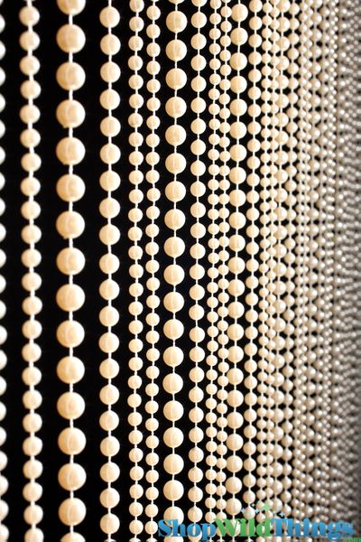 COMING SOON! Jazzy Pearls Beaded Curtain - Ivory - 3 ft x 6 ft