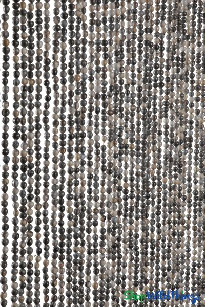 "Jujube Seeds Beaded Curtain Natural 35"" x 78"" � 60 Strands"